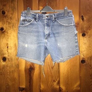 Distressed Lee shorts